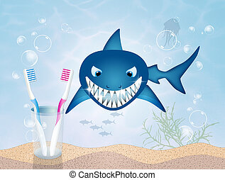 illustration of clean teeth - funny illustration of clean...