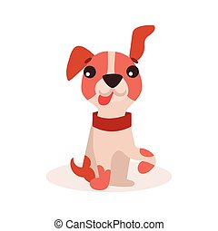 Funny jack russell terrier dog character vector Illustration