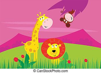 Funny Jungle Africa Animals