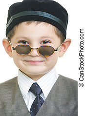 Funny kid in sunglasses
