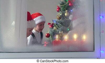 kids celebrate Christmas