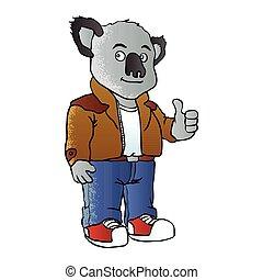 funny koala cartoon