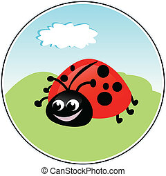 Funny Ladybug - Ladybug - funny vector illustration
