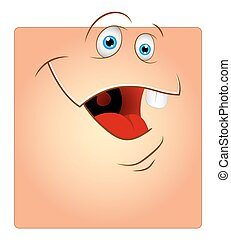 Funny Laughing Face Box Smiley