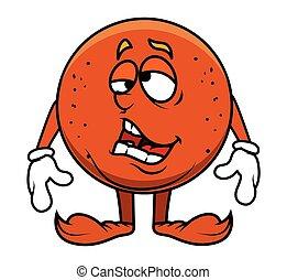 Funny Lazy Cartoon Fruit Character