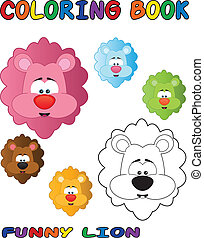 Funny Lion - Coloring Book