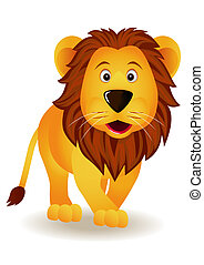 Funny Lion - Funny lion cartoon