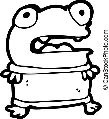 funny little frog cartoon