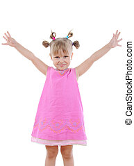 Funny little girl.