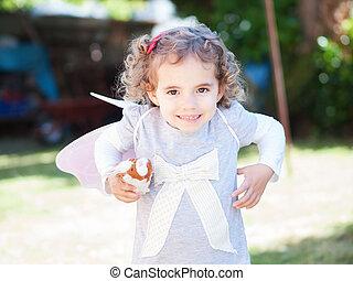 Funny little girl portrait