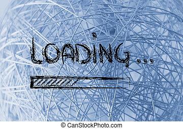 Server loading bar sign illustration design graphic over a blue funny loading sign with progress bar voltagebd Choice Image