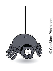 funny male spider Halloween vector