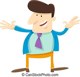 funny man or businessman cartoon character