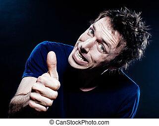 Funny Man Portrait thumb up