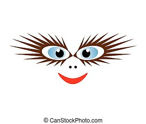 Funny mask. Vector EPS10 - Funny mask with blue eyes. Vector...