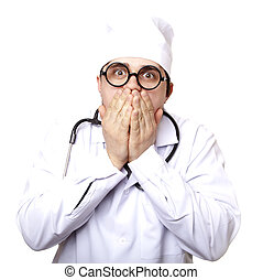 Funny M.D. with stethoscope