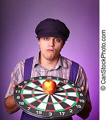 Funny men with darts.