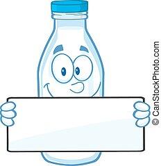 Funny Milk Bottle Character