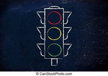 funny minimalistic design of street light