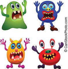 funny monster collection - illustration of funny monster...