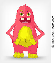 Funny Monster. Engry. - Cartoon Character Funny Monster ...
