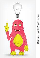 Funny Monster. Idea.