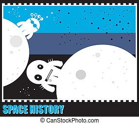 Funny monster in space
