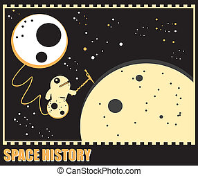 Funny monsters in space