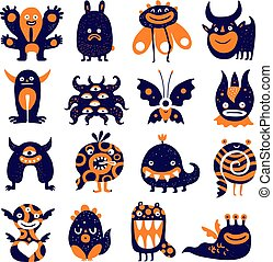 Funny Monsters Set