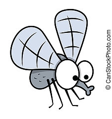 Funny Mosquito Character Vector - Drawing Art of cartoon...