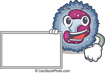 Funny neutrophil cell cartoon character design style with ...
