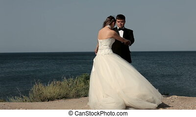 Funny newlyweds - Fun two married at sea.