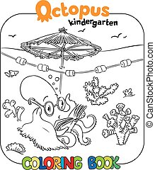 Funny octopus coloring book