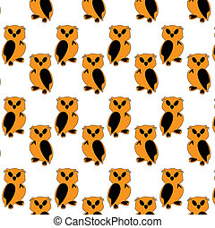 Funny orange toy owl cartoon