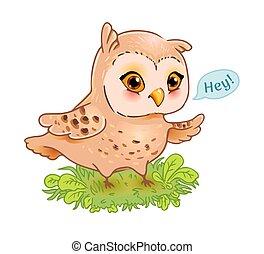 Funny owl print