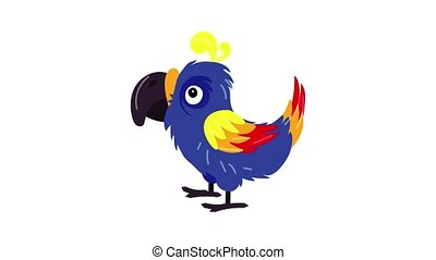 Funny parrot icon animation