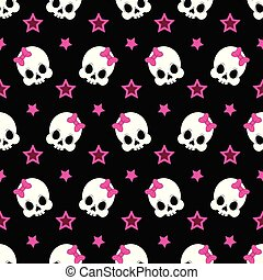 funny pattern with cute skeleton