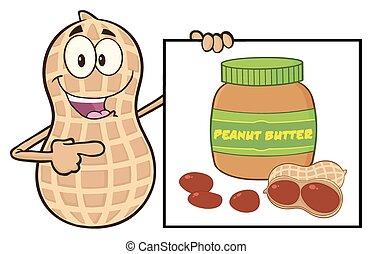 Funny Peanut Character