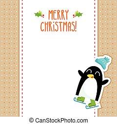Funny penguin Christmas design