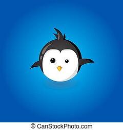 Funny Penguin illustration funny