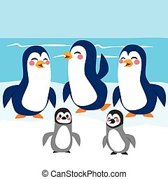 Funny Penguins Antarctica - Funny baby and adult penguins...