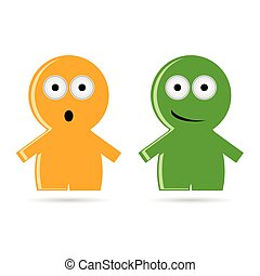 funny people icon vector illustration