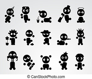 Funny people icons