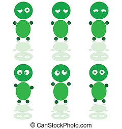 funny people of green vector