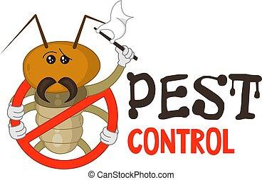 Funny pest control logo.