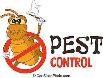Funny pest control logo