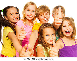 Funny picture of six kids