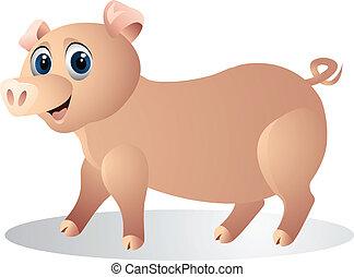 funny pig cartoon