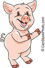 Funny piggy. vector illustration