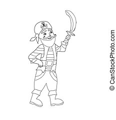Funny Pirate – coloring book